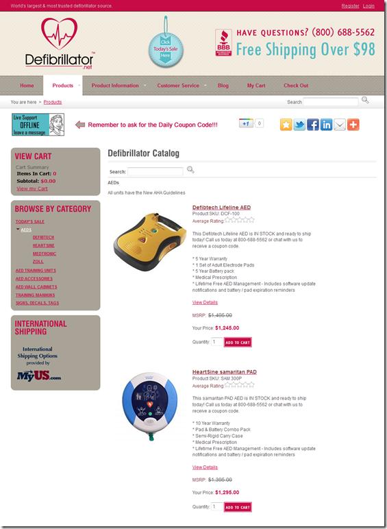Online Defibrillator Store