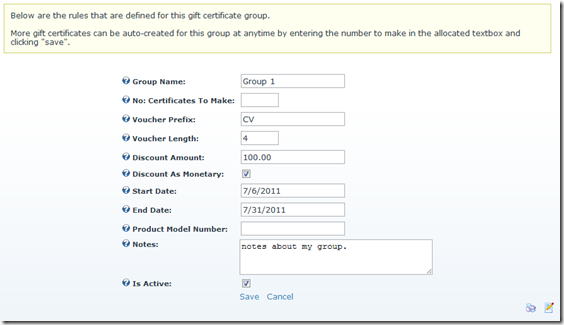 gift cert group admin